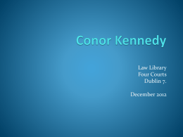 """Appeal Hearings"" PPT - Conor Kennedy"