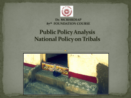 Public Policy Analysis - Dr. MCR HRD Institute.