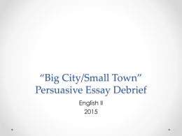 Persuasive Essay Dos and Don`ts