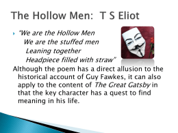 The Hollow Men powerpoint