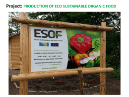 ESOF d.o.o Eco Sustainable Organic Food