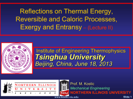 Reflections on Thermal Energy, Reversible and Caloric