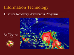 Disaster Recovery Awareness PowerPoint
