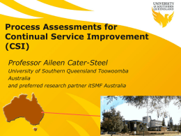 A Tool for IT Service Management Process Assessment for