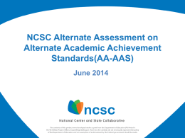 NCSC Assessment PowerPoint 6-16-14 PPTX