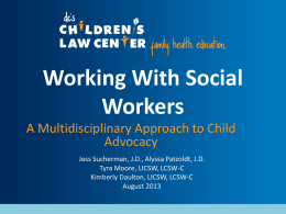 Working with Social Workers