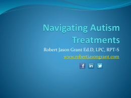 Evidence Based Treatments for Autism Spectrum