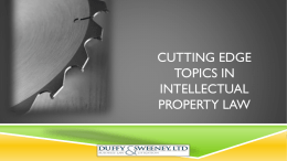 Cutting Edge Topics in Intellectual Property Law
