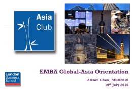 Asia Club - Columbia Business School