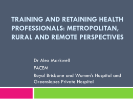 View the presentation slides for Alex Markwell here