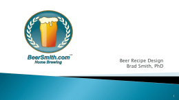 AHA Beer Recipe + BeerSmith Presentation