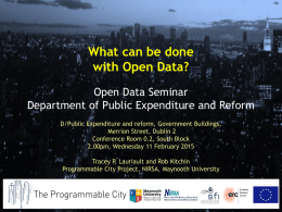 Putting Data to Work - Department of Public Expenditure and Reform