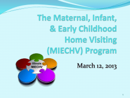 MIECHV Presentation - Partner. Plan. Act.