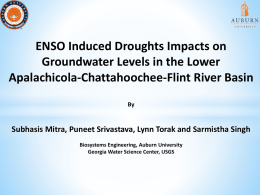 ENSO Induced Droughts Impacts on Groundwater Levels in the