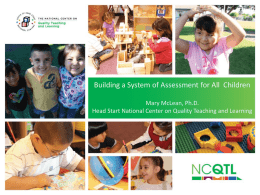 Building a System of Assessment for All Children