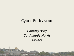 Cyber Endeavour Brunei Country Brief