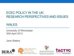 Research perspectives and issues WALES
