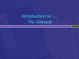 Introduction to *.. The Odyssey