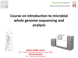 Whole genome sequencing - Center for Biological Sequence Analysis