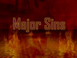 Major Sins - Al Manarat Academy