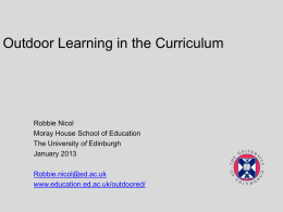 Here - Institute for Outdoor Learning