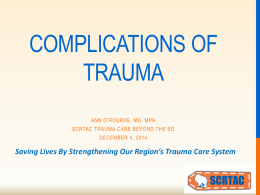 Complications of Traumatic Injuries