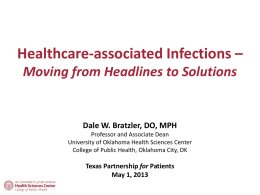 Healthcare-associated Infections - Texas Center for Quality & Patient