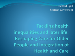 Richard Lyall - Voluntary Health Scotland