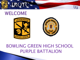 Cadet Staff Brief - Bowling Green Independent Schools