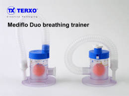 The Mediflo duo breathing trainer