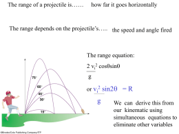 1.3 The range and trajectory equations DERIVED