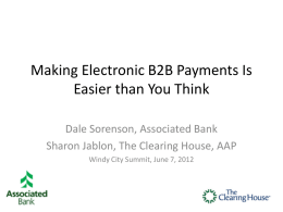 Persuading Your Suppliers to Accept Electronic Payments