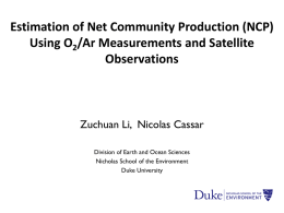 Estimation of Large-scale Net Community Production Patterns