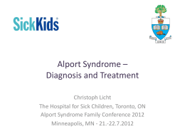 Diagnosis and Treatment - Alport Syndrome Foundation