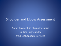 Shoulder & Elbow assessment