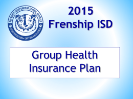 Health Insurance Power Point. 2015