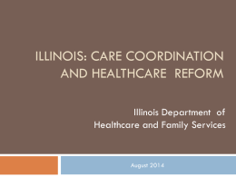 Illinois: Care Coordination and Healthcare Reform By Region