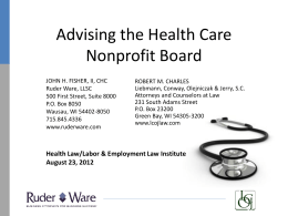 Advising the Nonprofit Board of Directors