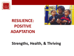 Positive Adaptation - Resilience Trumps ACEs