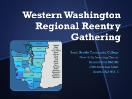 Western Washington Regional Reentry Gathering