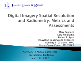 Digital Imagery Spatial Resolution and Radiometry by Mary