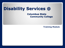 The ADA & Disability Services @ CSCC