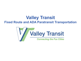 Valley Transit Fixed Route Service
