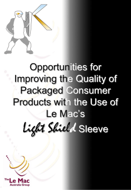 Le Mac Light Shield Presentation - the Packaging Council of Australia