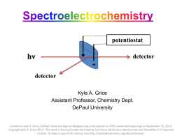 Five Slides About Spectroelectrochemistry (SEC)