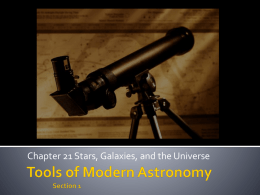 Tools of Modern Astronomy