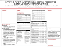 Improving Patient Satisfaction in a Hospital Foodservice System