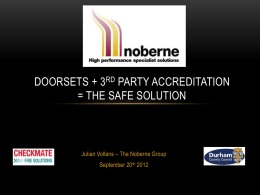 Noberne Doors - Checkmate Fire Solutions