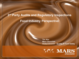 3 rd Party Audits - Dubai International Food Safety Conference