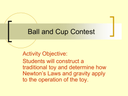 Activity 6 Ball and Cup Contest